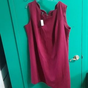 Talbots maroon business dress
